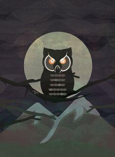 The owls are not what they seem. (Twin Peaks) Art Print #twinpeaks #twin #peaks #illustration #lynch