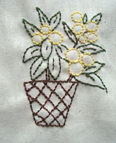 Potted Plants. Hand Embroidery Pattern by PDF by Stitchingalways