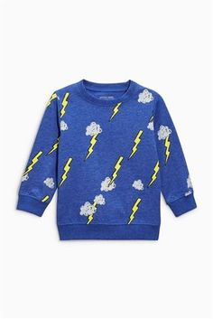 Buy Blue Long Sleeve Crew (3mths-6yrs) from the Next UK online shop