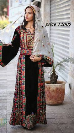 59 Best Ideas For Embroidery Dress Wedding Etsy Etsy Embroidery, Embroidery Dress, Wedding Embroidery, Abaya Fashion, Modest Fashion, Fashion Dresses, Purple Glitter Background, Palestinian Wedding, Balochi Dress