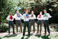 Superhero Photo | The Brand Studio | Blog.theknot.com - grooms men, ninja turtles