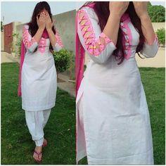 New Image : Salwar designs Salwar Designs, Churidar Neck Designs, Simple Kurti Designs, Kurta Designs Women, Kurti Designs Party Wear, Neck Designs For Suits, Sleeves Designs For Dresses, Dress Neck Designs, Fancy Blouse Designs