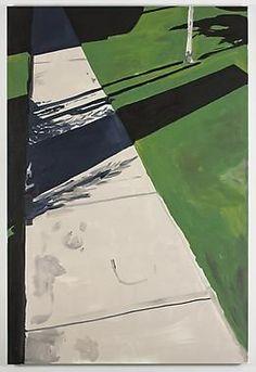 """Koen van den Broek ~ """"Village Park"""" (2011) Oil on Belgian linen, 180 x 120 cm"""