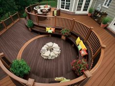 Two tone decking. Love the colour and style