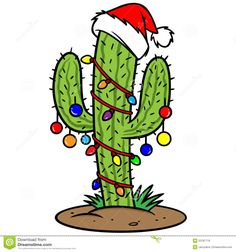 image result for christmas cactusclipart - Decorating Cactus For Christmas