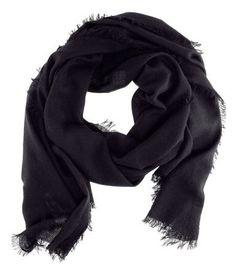 H & M cashmere scarf, black