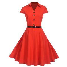 Vestidos Pin Up, Vestidos Retro, Vintage Summer Dresses, Summer Dresses For Women, Dress Vintage, Vintage Style, Moda Pinup, Chemises Sexy, Look Rockabilly