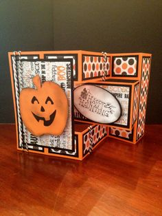 Halloween Trifold Shutter Pumpkin Card Kit by prettiestlilthings