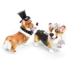 Pembroke Welsh Corgi Dog Lover Wedding Cake Topper Figurine Statue