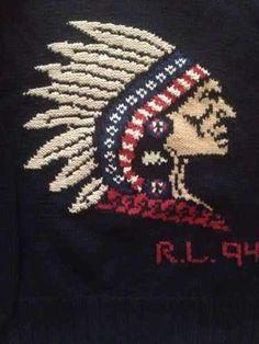 Vintage Polo Ralph Lauren Indian Head 1994