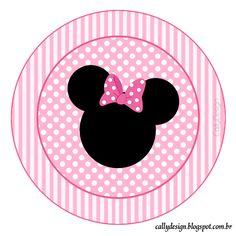 topper para cupcake minnie rosa