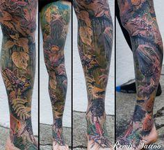 Tuatara lizard tattoo