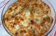 Gratinado de coliflor con jamón serrano. http://recetasdecocinablog.com/gratinado-de-coliflor-con-jamon-serrano/