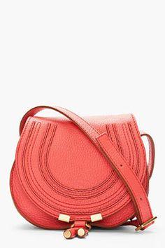 POPSUGAR Shopping: Chloé Coral pink Marcie Round Small Pochettete