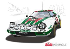 Lancia Stratos Rally Monte Carlo 1977(Vector Illustration)