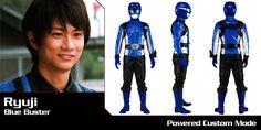 Tokumei Sentai Go-Busters - Ryuji (Blue Buster) - Super Sentai Time Capsule Rangers Team, Power Rangers, Kamen Rider Wizard, Go Busters, Hero Time, 28 Years Old, Time Capsule, Live Action, Japan