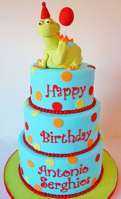 First Birthday Cakes NJ - Dinosaur Custom Cakes