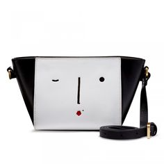 New Face Small Pixie: Introducing this season's newest addition to the handbag family, the Small Pixie. Small but perfectly formed, this chic cross body bag features Lulu's perforated New Face motif ensuring a simple switch from day to night.  - Visit Lulu Guinness at http://www.luluguinness.com/