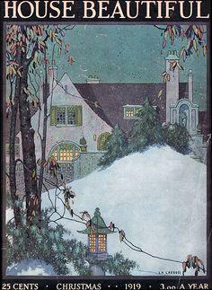 Vintage Magazine Illustrations - to - Cover Art Illustration Noel, Magazine Illustration, Garden Illustration, Sculpture Textile, Cottage Art, Beautiful Homes, House Beautiful, Magazine Art, Magazine Covers