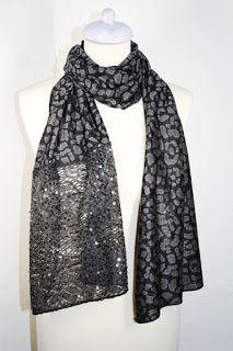 scarf two fabrics scarf read scarf two fabrics spotted Handmade color gray more color gil workshop Italy gil bottega italia