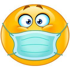 Emoticon with medical mask. Vector emoticon with medical mask over mouth , Smiley Emoji, Sick Emoji, Funny Emoji Faces, Emoji Love, Smiley Faces, Meme Faces, Animated Emoticons, Funny Emoticons, Smileys