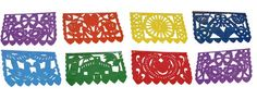 papel picado banner vector  Mexican Plastic Banner -