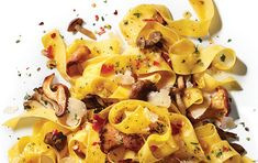 A mix of tasty, colorful mushrooms gives this simple pasta lots of flavor and visual interest. We use pappardelle pasta, but any wide pasta such as tagliatelle or fettuccine will also work terrifically.