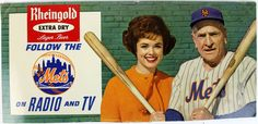 Rheingold Ad with Casey Stengel Casey Stengel, Sports Advertising, Lager Beer, Sports Figures, New York Mets, My Memory, Ads, Baseball Cards, History