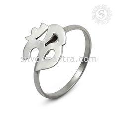 Handmade !!  925 Sterling Silver OM Ring Jewelry