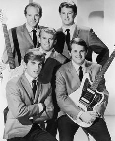 The Beach Boys. Clean-cut and scrubbed fro this PR shot.