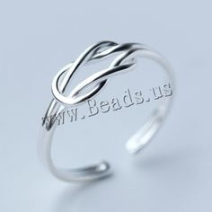 925 Sterling Silver Cuff Finger Ring, open, 5.50mm, US Ring Size:8, 5PCs/Lot,china wholesale jewelry beads