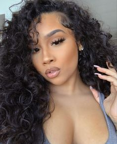 Summer Hairstyles, Pretty Hairstyles, Wig Hairstyles, Red Lips Makeup Look, Makeup Looks, Beauty Makeup, Hair Beauty, Hair Laid, Gorgeous Makeup
