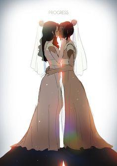 30 | Korra and Asami: Love Wins by moxie2D.deviantart.com on @DeviantArt