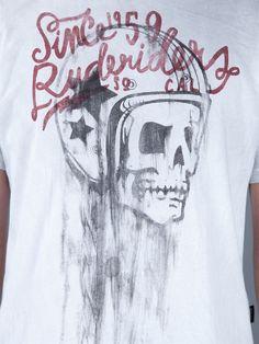 Rude Riders Skull Print T-shirt - - Farfetch.com