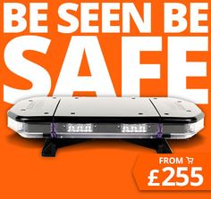 ADP - Durite's Most Competitive Online Shop – Amber LED light bar. Low profile design with clear polycarbonate lens and black top cover.