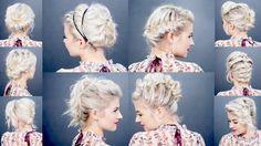 10 EASY UPDOS FOR SHORT HAIR | Milabu