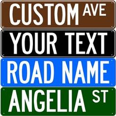 Personalized Aluminum Street Signs