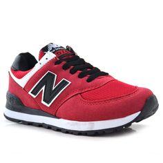 New Balance 574 Kırmızı Siyah | BAYAN AYAKKABI | Spor | En uygun fiyata New Balance ayakkabı modelleri.  | Nelazimsa.net
