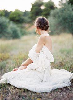Delciate Provence Outdoor Wedding Ideas | Vintage Lace Wedding Dresses