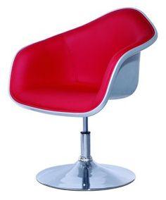 Saddleback Tulip Swivel Lounger in White Shell with Red Seat Manhattan Designer Product http://www.amazon.com/dp/B006X3F8NC/ref=cm_sw_r_pi_dp_rucTtb0BJCQV4FR5