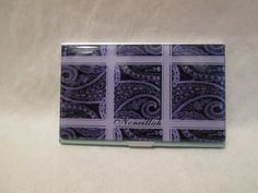 Noneillahs purple and tan designer business cards holder makes a noneillahs fancy designer business cards holder makes a perfect gift the cost for this business colourmoves Image collections