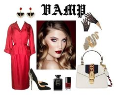 vamp by o-ksimm on Polyvore featuring мода, Christian Dior, Cerasella Milano, Gucci, Thalia Sodi, Lalique, Chanel and Charlotte Tilbury