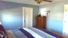Craftsman style master bedroom with eco friendly materials