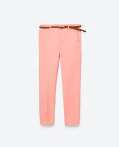Image 8 of CHINO STYLE TROUSERS WITH BELT from Zara