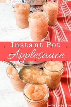 Instant Pot Applesauce is so easy to make and tastes great! Just throw together some apples and spices and come back to a perfectly sweet fall treat!