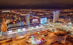 Nightlife in Warsaw - panorama