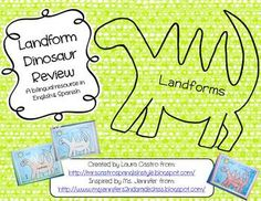 Use this as a review or to assess landforms.  The dinosaur drawing gives a fun spin on a dry topic.Included is a dinosaur page that students wi...