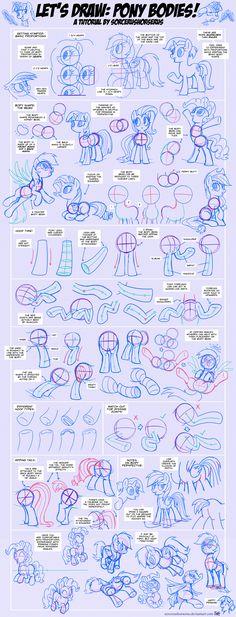 Let's Draw: Pony Bodies! Tutorial #2 by SorcerusHorserus.deviantart.com on @DeviantArt