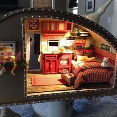 diy miniature tiny trailer dollhouse, crafts