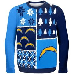 I found Ryan's Christmas present!!! LoL San Diego Chargers Busy Block Ugly Sweater